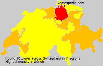 Familiennamen Zierer - Switzerland