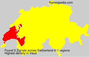 Surname Zignale in Switzerland