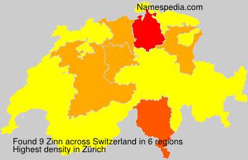 Familiennamen Zinn - Switzerland