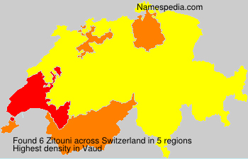 Surname Zitouni in Switzerland