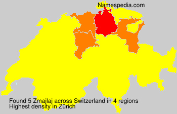 Surname Zmajlaj in Switzerland