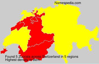 Surname Zuccala in Switzerland
