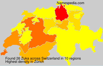 Surname Zuka in Switzerland