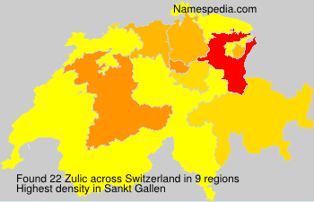 Surname Zulic in Switzerland