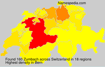 Surname Zumbach in Switzerland