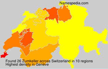Surname Zumkeller in Switzerland