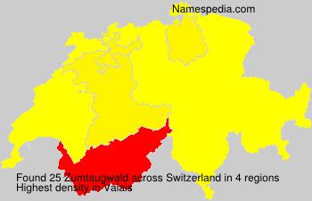 Surname Zumtaugwald in Switzerland