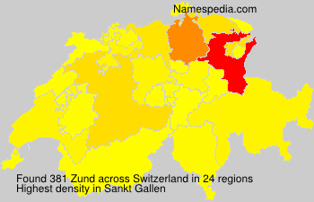 Surname Zund in Switzerland
