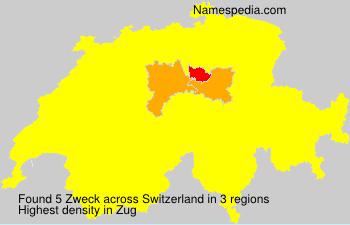 Surname Zweck in Switzerland