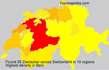 Surname Zweiacker in Switzerland