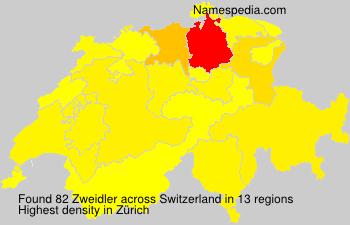 Surname Zweidler in Switzerland