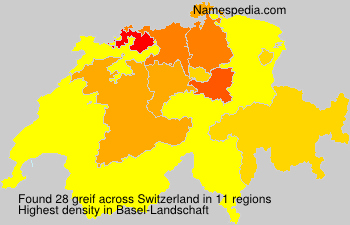 Surname greif in Switzerland