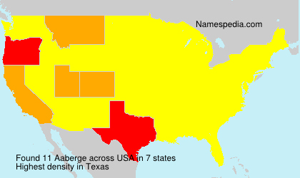 Surname Aaberge in USA