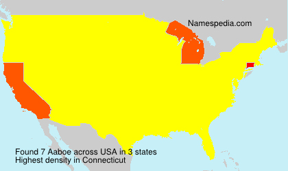 Surname Aaboe in USA