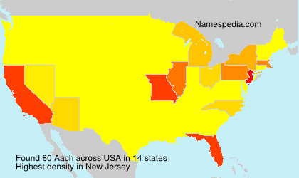 Surname Aach in USA