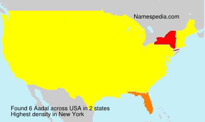 Familiennamen Aadal - USA