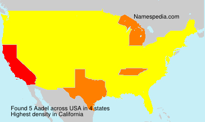 Surname Aadel in USA