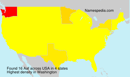Surname Aaf in USA
