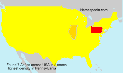 Familiennamen Aafjes - USA