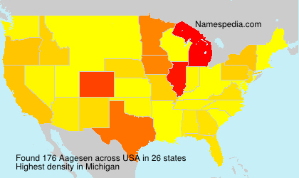 Surname Aagesen in USA