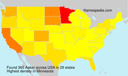 Surname Aaker in USA