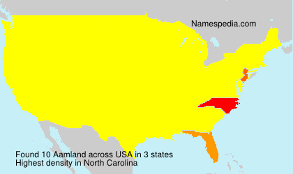 Surname Aamland in USA