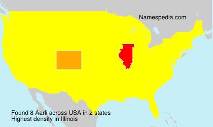 Familiennamen Aarli - USA