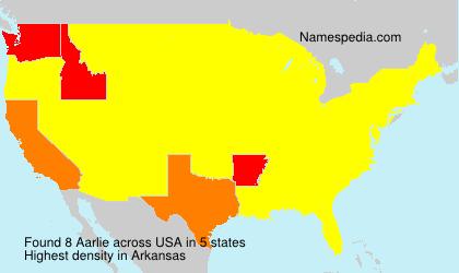 Familiennamen Aarlie - USA