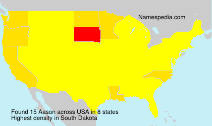 Surname Aason in USA