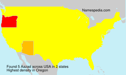 Familiennamen Aazad - USA