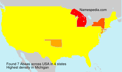 Surname Abaas in USA