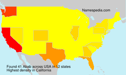 Surname Abab in USA