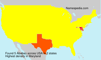 Surname Ababao in USA