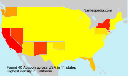 Surname Ababon in USA