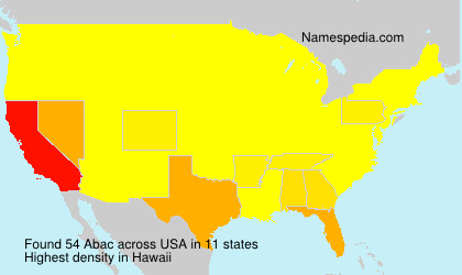 Surname Abac in USA