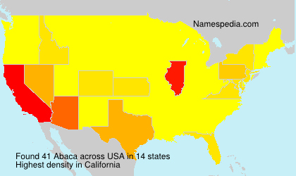 Surname Abaca in USA
