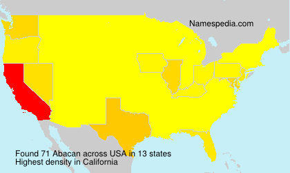 Surname Abacan in USA