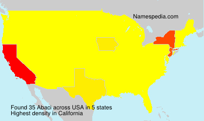 Surname Abaci in USA