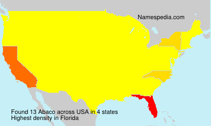 Surname Abaco in USA