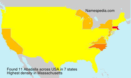Surname Abadalla in USA