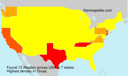 Surname Abadan in USA