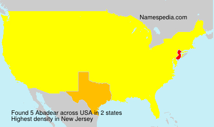 Surname Abadear in USA