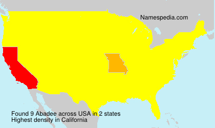 Surname Abadee in USA