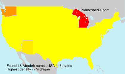 Surname Abadeh in USA