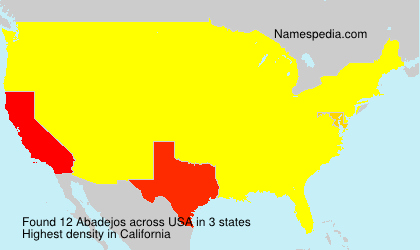 Surname Abadejos in USA
