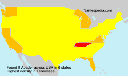 Surname Abader in USA