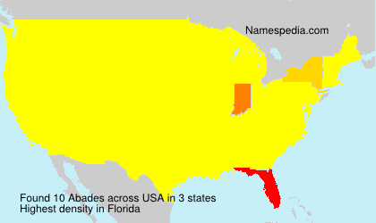 Surname Abades in USA