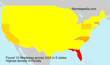 Surname Abadessa in USA