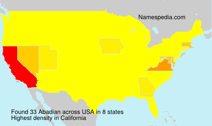 Surname Abadian in USA
