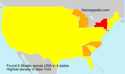 Surname Abadio in USA